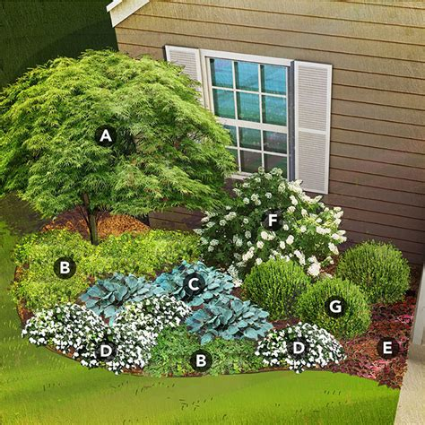 planning a shade garden shade garden plan for south region featuring japanese maple mahonia hosta new guinea