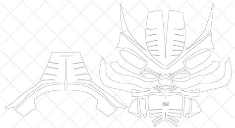 black panther mask template how to make your own black panther helmet pdf template black panther pdf and craft