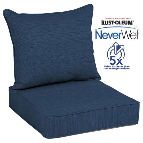 patio furniture cushions shop allen roth neverwet 2 navy seat patio