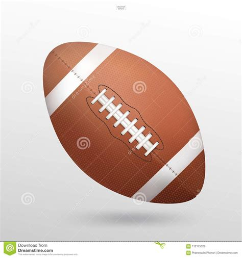 Register/login to download this free svg file. American Football Ball On White Background. Vector ...