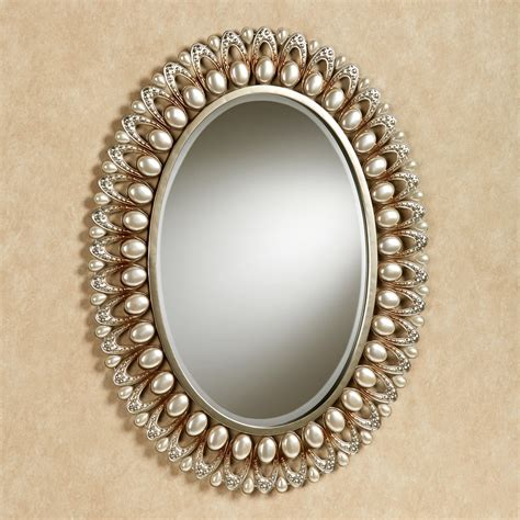 Round Beveled Mirror by Julietta Pearl Oval Wall Mirror