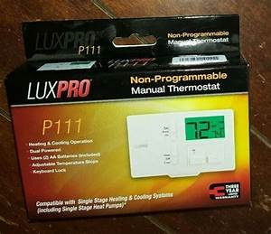 Lux Pro Non-programmable Manual Thermostat