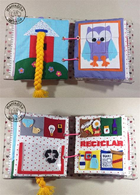 quiet book activity book  boys  girls sensory gift