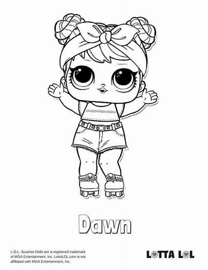 Lol Coloring Doll Pages Dawn Surprise Confetti