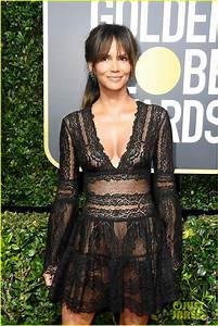Halle Berry Stuns in Sheer on the Red Carpet at Golden ...