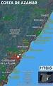 Costa De Azahar Spain Map | Topographic Map