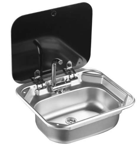 rv caravan camper stainless steel hand wash basin kitchen