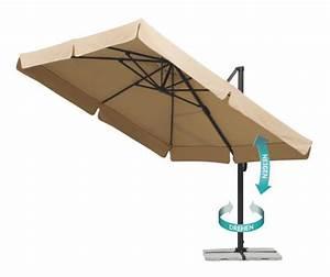 sonnenschirm 3m mit kurbel gartenschirm in ecru schwarz With französischer balkon mit sonnenschirm 400