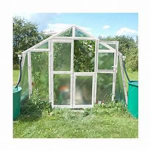 Serre Acier Verre : serre de jardin 303x452cm 13 69m verre cath drale 4mm ~ Premium-room.com Idées de Décoration