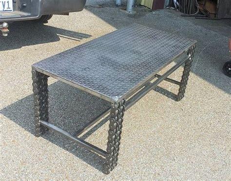 metal coffee table blueprints plans diy how to make