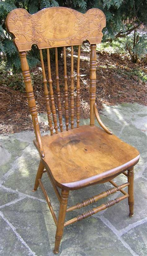 King Edward Vii Chair by Victorain Edwardian Canadian Pressback Chairs