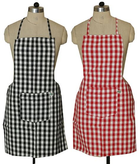 designer kitchen aprons kuber industries check design kitchen apron with front 3224