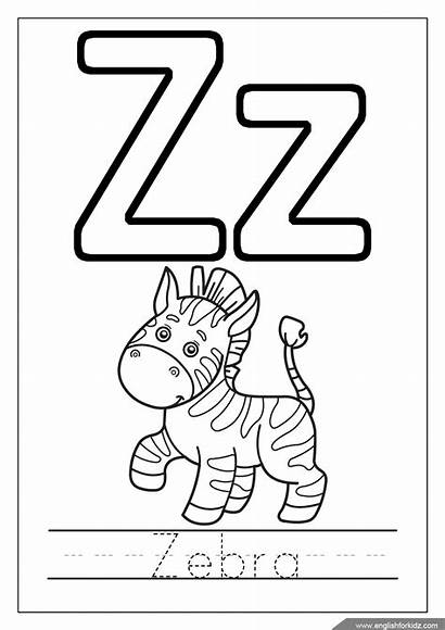 Coloring Letter Alphabet Pages English Letters Worksheets