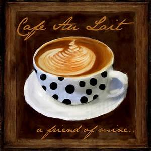 Café Au Lait : cafe au lait digital art by lourry legarde ~ Carolinahurricanesstore.com Idées de Décoration