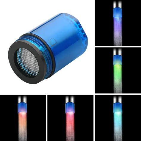 color changing led lights 7 color changing led faucet light tap water saving for