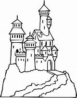 Coloring Castle Pages Medieval Castles Getcolorings Polish sketch template