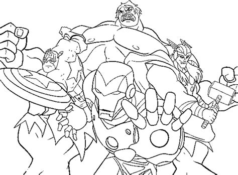 avengers cartoon coloring pages marvel avengers cartoon drawing sketch coloring page