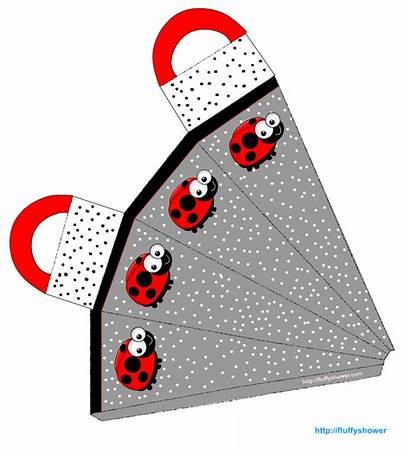 Printable Ladybug Party Favor Birthday Bag Template