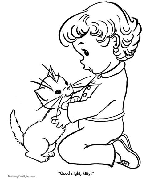 cat  kitten coloring page   clip art