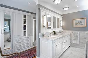 Marble bathroom vanity and wooden cabinet in classic for Classic vanities bathrooms