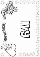 Ivy Coloring Designlooter Names 41kb 849px Hellokids sketch template