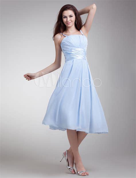 light blue tea length dress light sky blue zipper chiffon tea length cocktail dress
