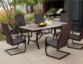 7 patio dining set walmart patio 7 pc patio dining set home interior design