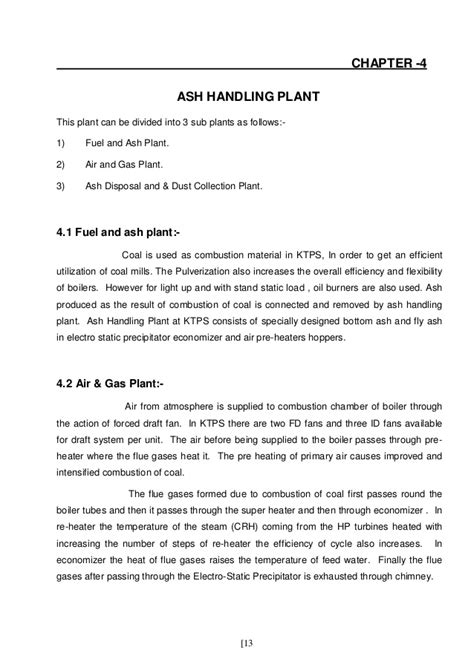 Project report of kota super thermal power plant
