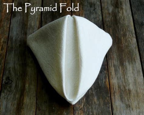 fancy napkin folding how to fold a dinner napkin the pyramid fold