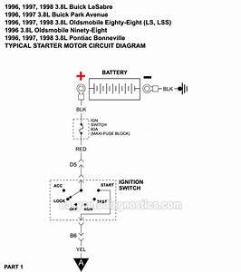 Starter Motor Circuit Diagram  1996