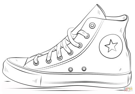 converse shoes coloring page  printable coloring pages