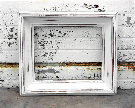 shabby chic white picture frame 8 x 10 large chunky bright white picture frame shabby chic
