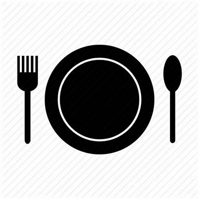 Eat Plate Icon Utensil Kitchen Knife Meal