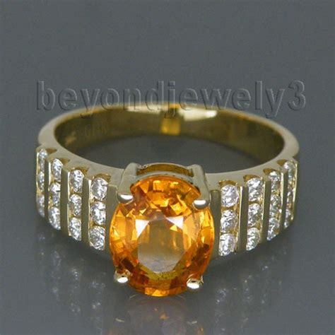 vintage solid 14kt yellow gold natural yellow sapphire