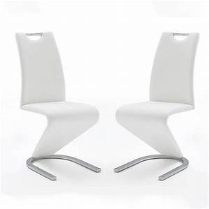 Stuhl Weiß Chrom : schwingstuhl amado 2er set freischwinger esszimmer stuhl wei gestell chrom ebay ~ Indierocktalk.com Haus und Dekorationen