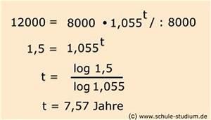 Zinseszins Zinssatz Berechnen : logarithmen berechnen 10 klasse realschule gymnasium ~ Themetempest.com Abrechnung