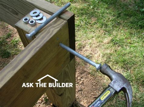 checking or notching deck posts building a deck ask the builder