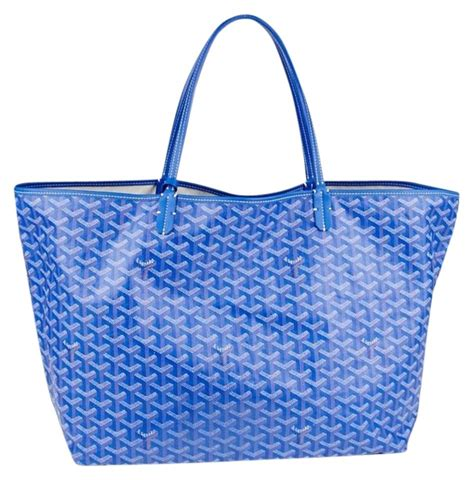 goyard monogram st louis gm blue tote bag totes  sale