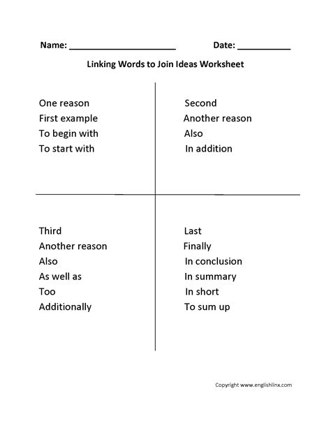 transition words worksheet 2nd grade the best worksheets