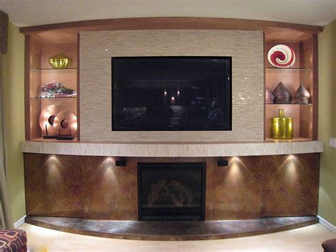 Remodeled Fireplace Before and AfterKeyser Construction