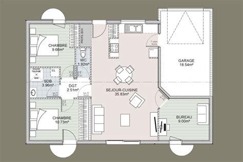 plan maison 3 chambres 1 bureau maison à vendre de 74 m sur un terrain de 662 m à ligugé