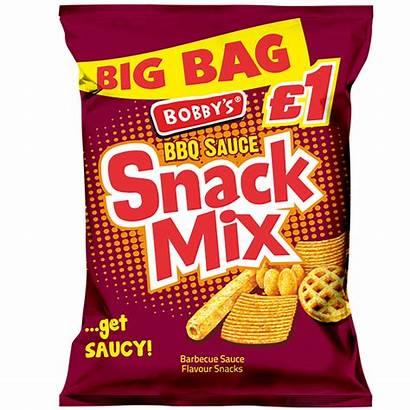 Snack Mix Bbq Crisps Bobbys Bobby Foods