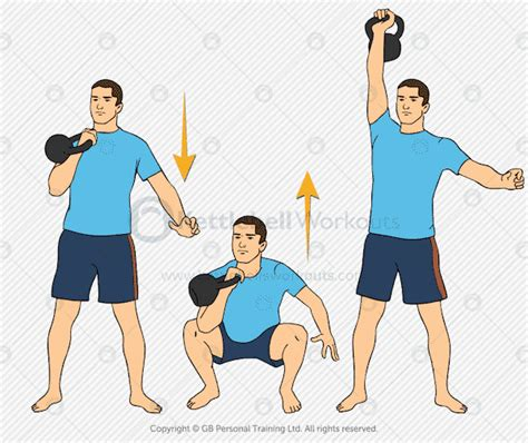 kettlebell clean squat press complex workouts body