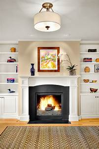 i bookshelves on either side of my fireplace should