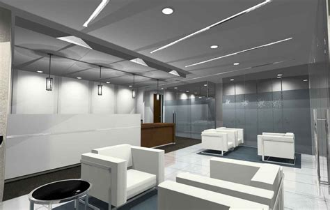 contemporary office waiting area decosee