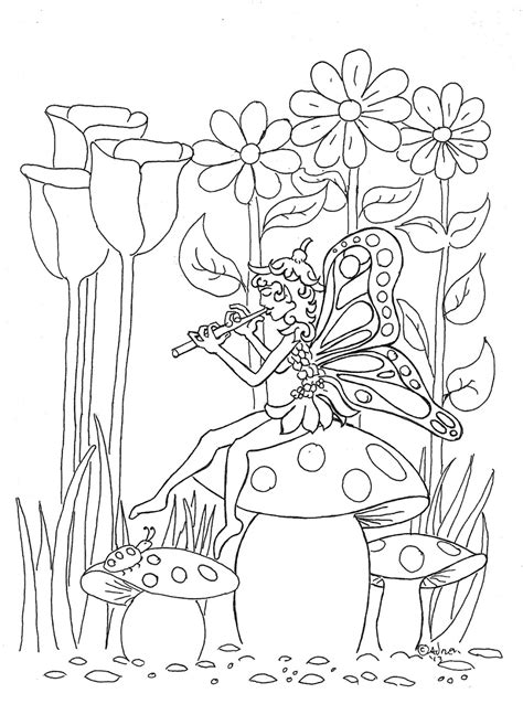 Coloring Pages for Kids by Mr Adron: Pixie Fairy Print