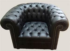Fauteuil Chesterfield Pas Cher : fauteuil capitonne cuir maison design ~ Teatrodelosmanantiales.com Idées de Décoration