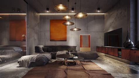 stylish home interior design concrete room interior design ideas