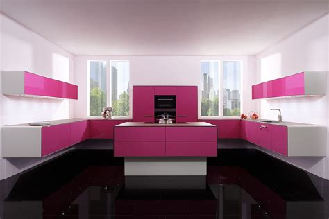 decor cuisine pink kitchen decorating ideas in style home