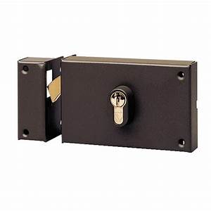 Serrure a crochet pour porte coulissante a cylindre for Porte de garage enroulable jumelé avec marque serrure